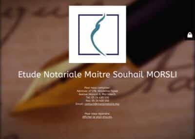 Etude Maitre Morsli