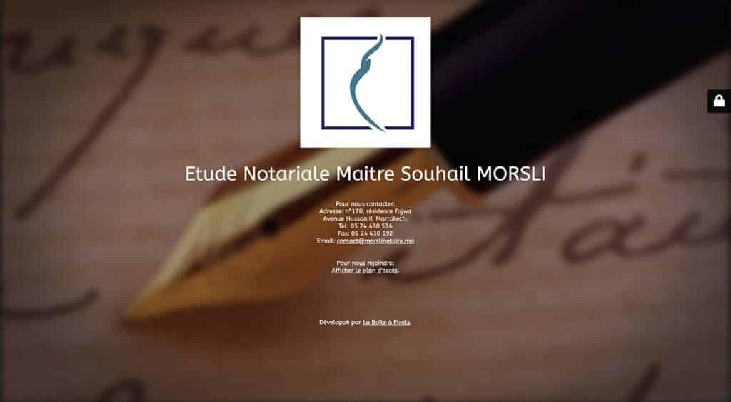 Etude Maître Morsli